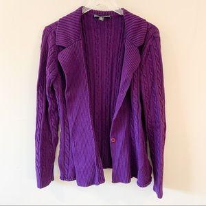 ⭐️5/$25 Lauren Ralph Lauren Purple Knit Cardigan